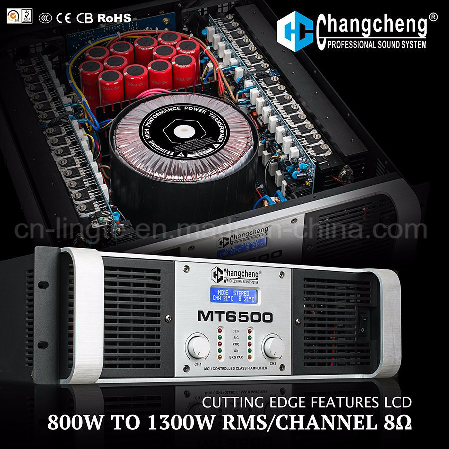 Mt5500 LCD Class H Professional Power Amplifier DJ