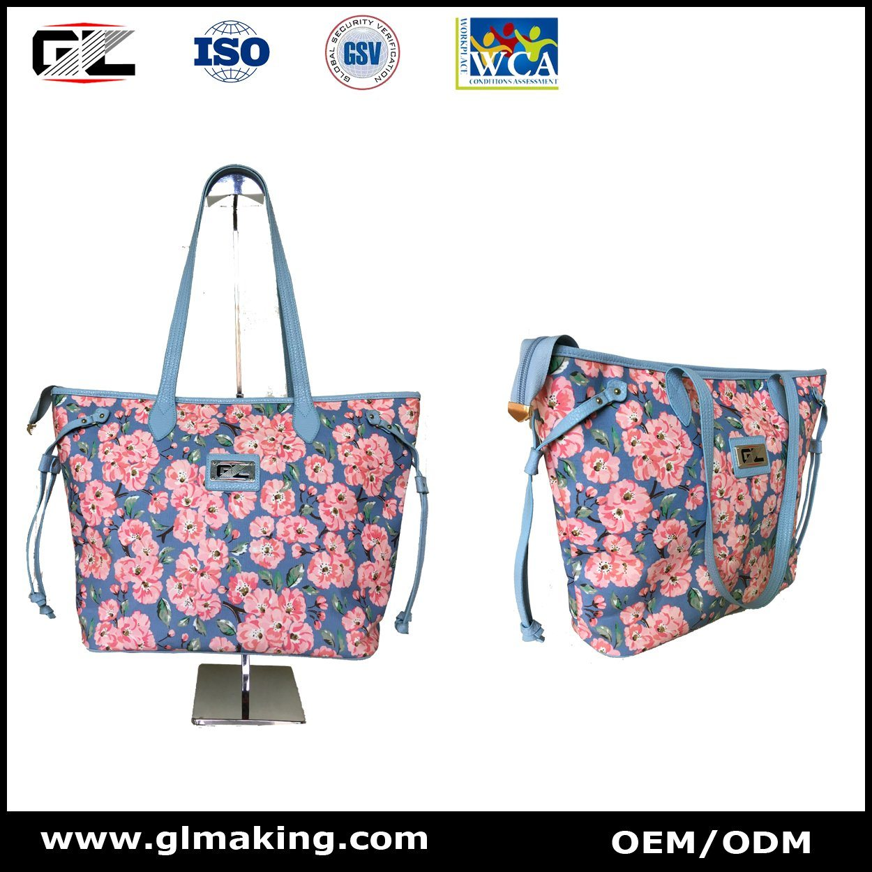 Fashion Flower Tote Bag & Mini Backpack