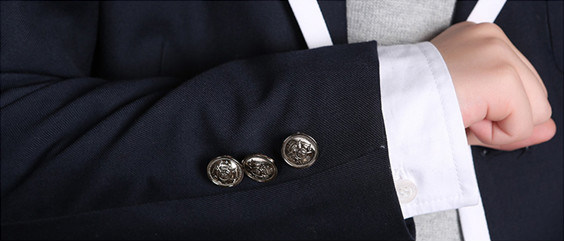 Dark Blue Primary School Uniforms Design for Boy and Girl