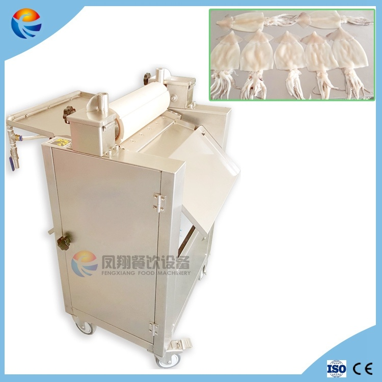 Automatic Sleeve-Fish Squid Ring Strips Cutting Cutter Slicer Slicing Shredding Machine