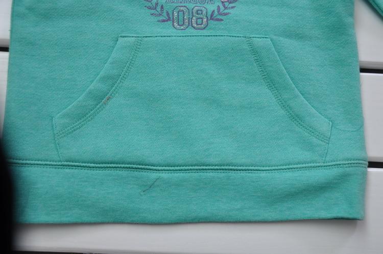 V-Neck Girls Hooded Long Sleeve T-Shirt
