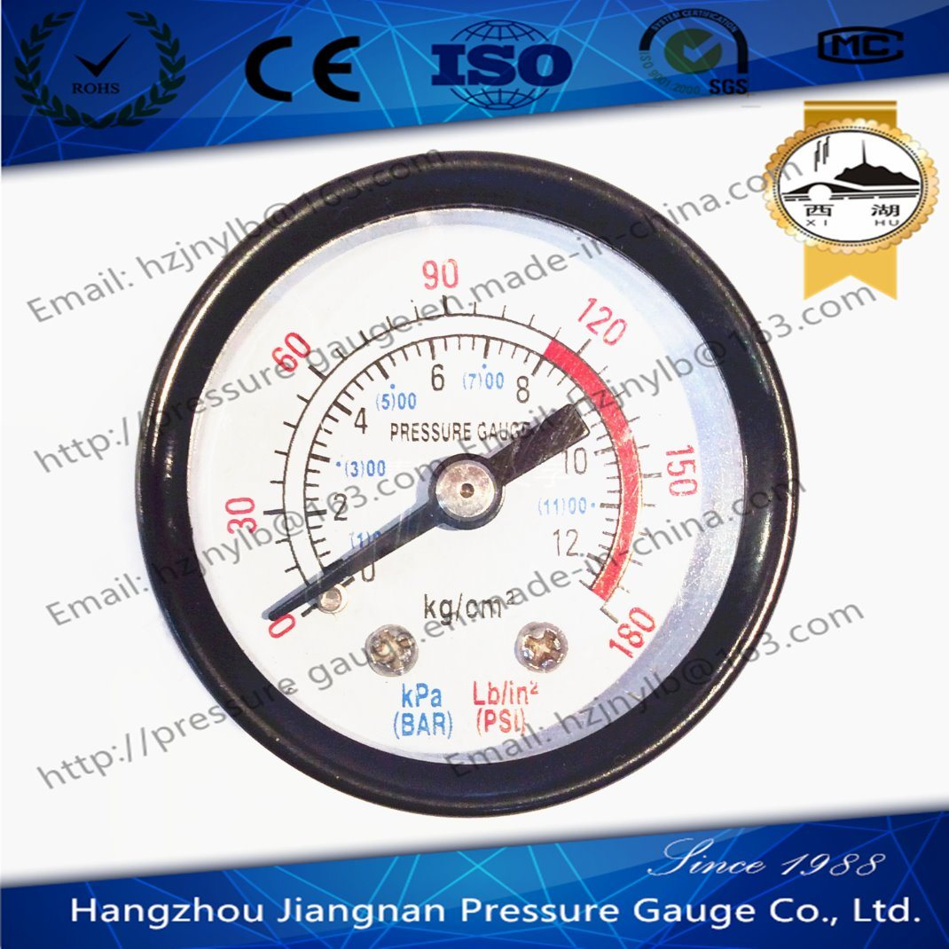 40mm 1.5′′ General Pressure Gauge with Back Connection