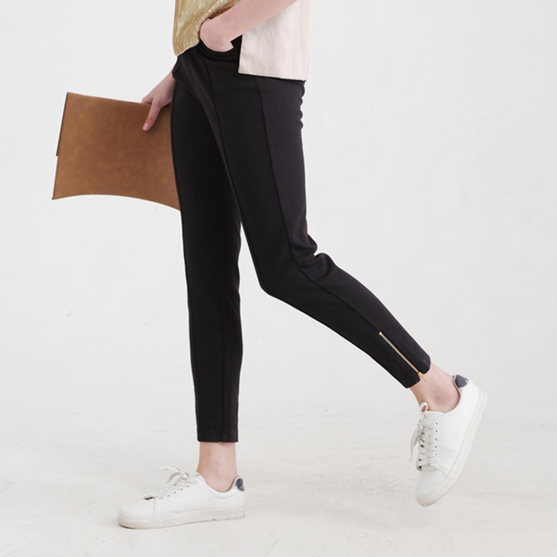 Ladies Fashion Casual Preppy Style Rib Jeggings Pants