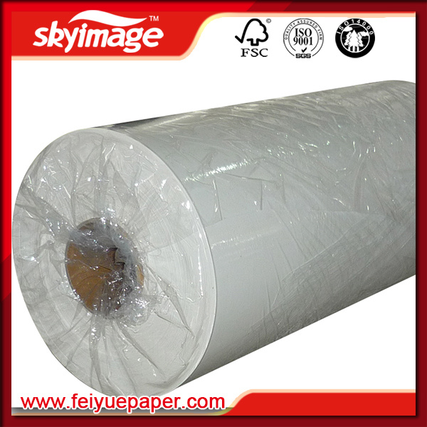 50GSM Jumbo Roll Fast Dry Sublimation Transfer Paper for Large Format Inkjet Printer