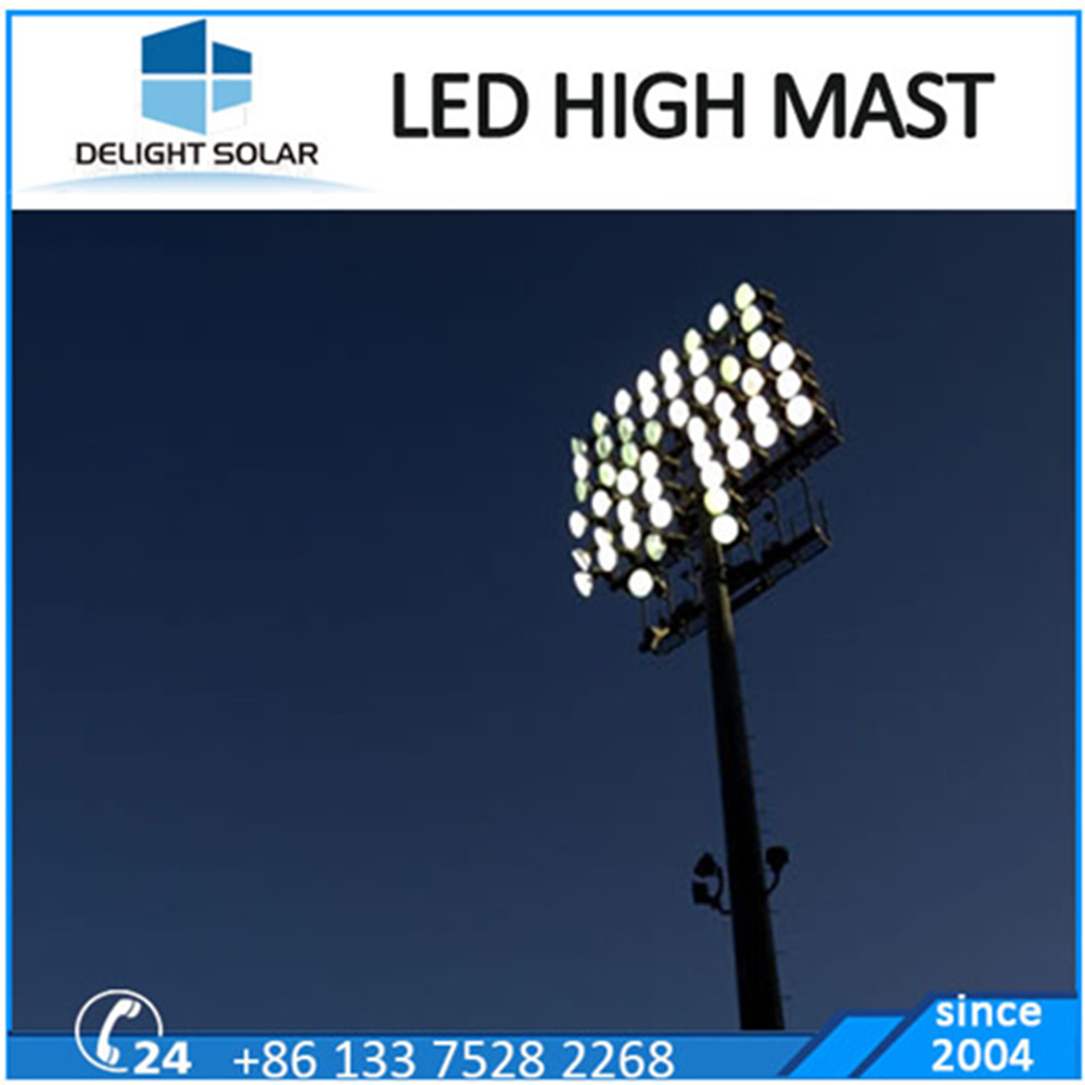 Manufacturer Octagonal Pole Airport Stadium LED Flood Light High Mast