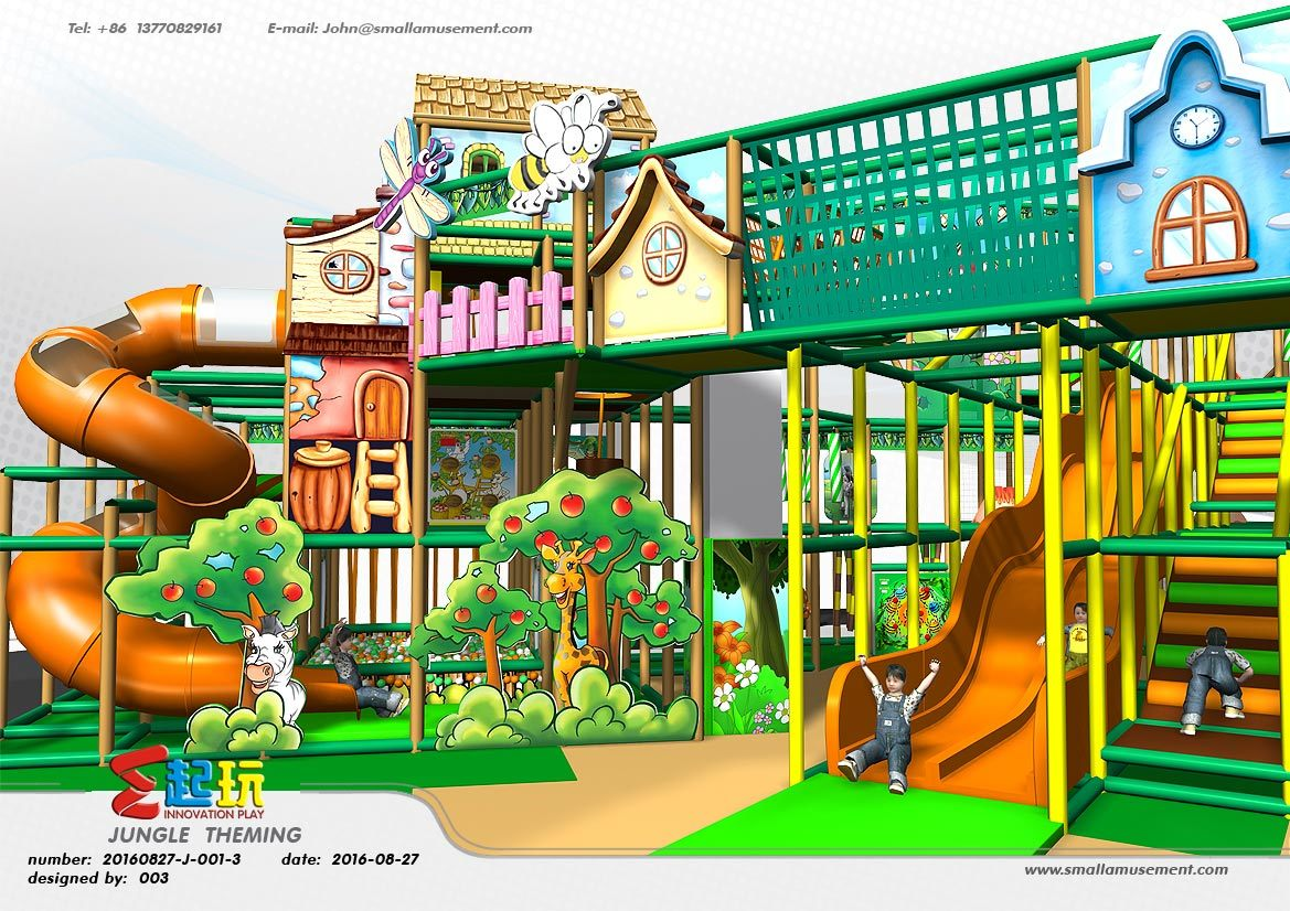 Professional Manufacturer of Village Themed Indoor Playground Equipment