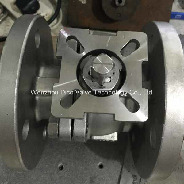 DIN Mounting Pad 2PC Floating Ball Valve with Ce Certificate