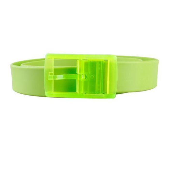 2016 New Unisex Stylish Candy Colours Silicone Plastic Belt Black