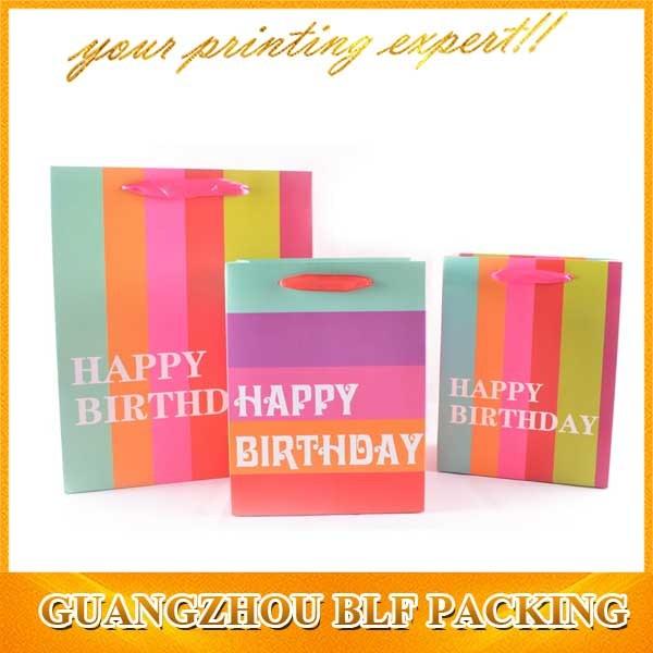 Fashion Color Shopping Packing Paper Bag Logo Designs (BLF-PB331)