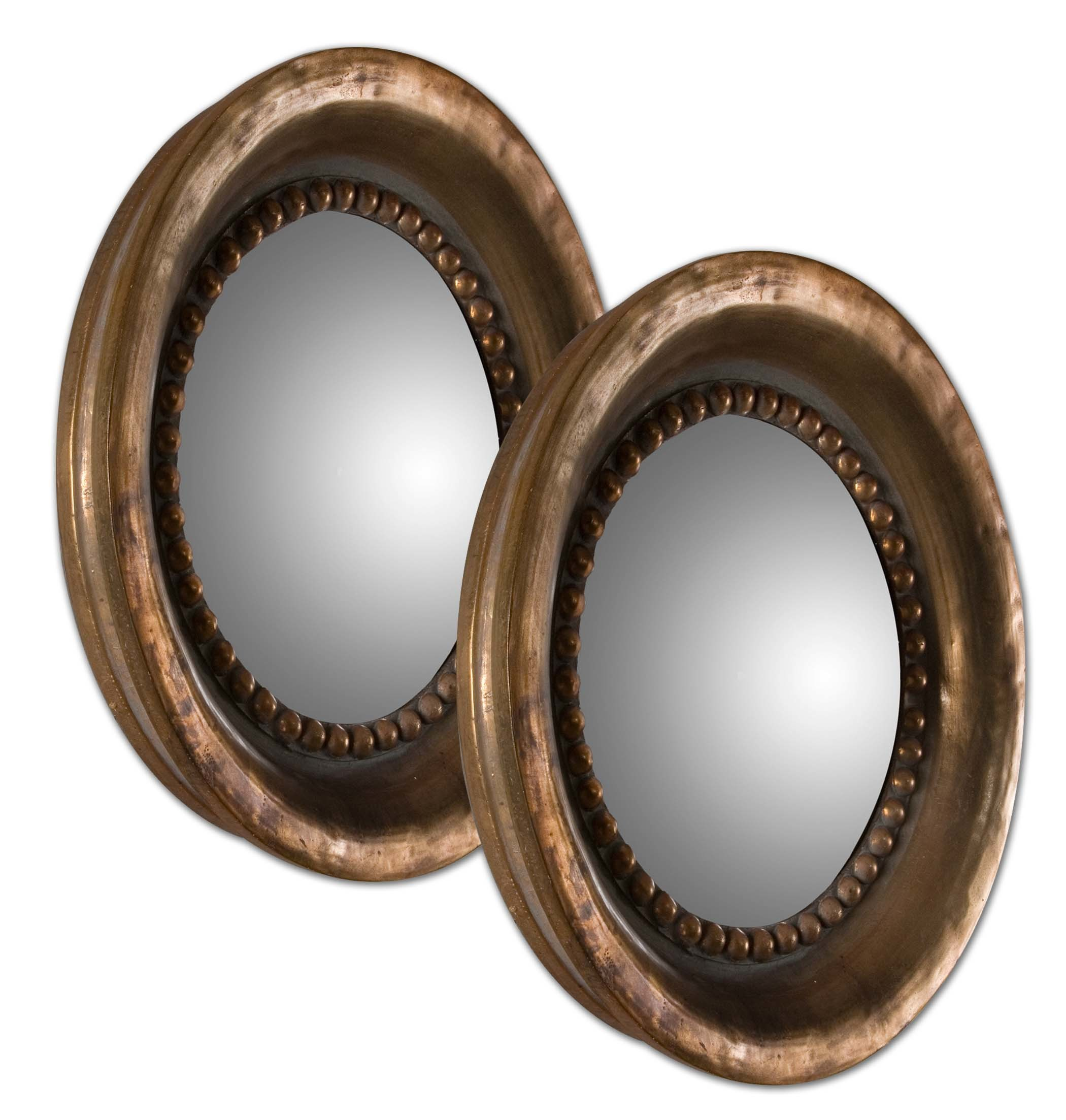 Hot Sales Mini Round Resin Framed Convex Decorative Mirrors