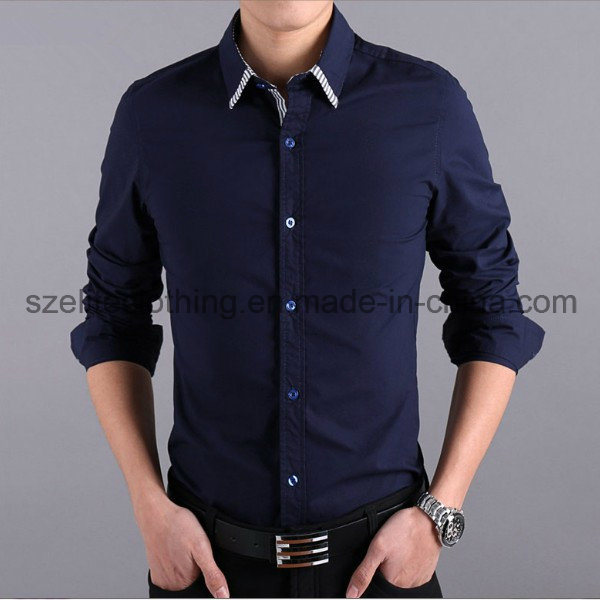 2015 Cheap Custom Men Dress Shirts (ELTDSJ-169)