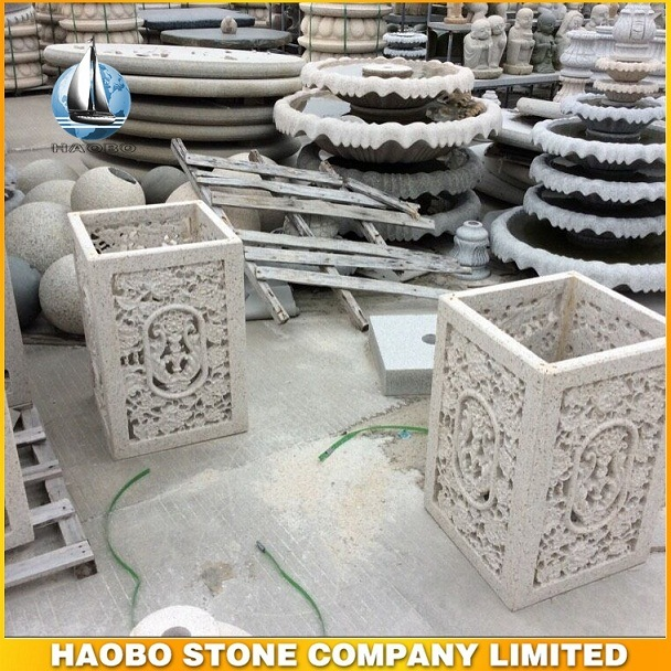 Decorative Stone Flowerpot Plant Pot and Granite Flowerpot for Outdoor