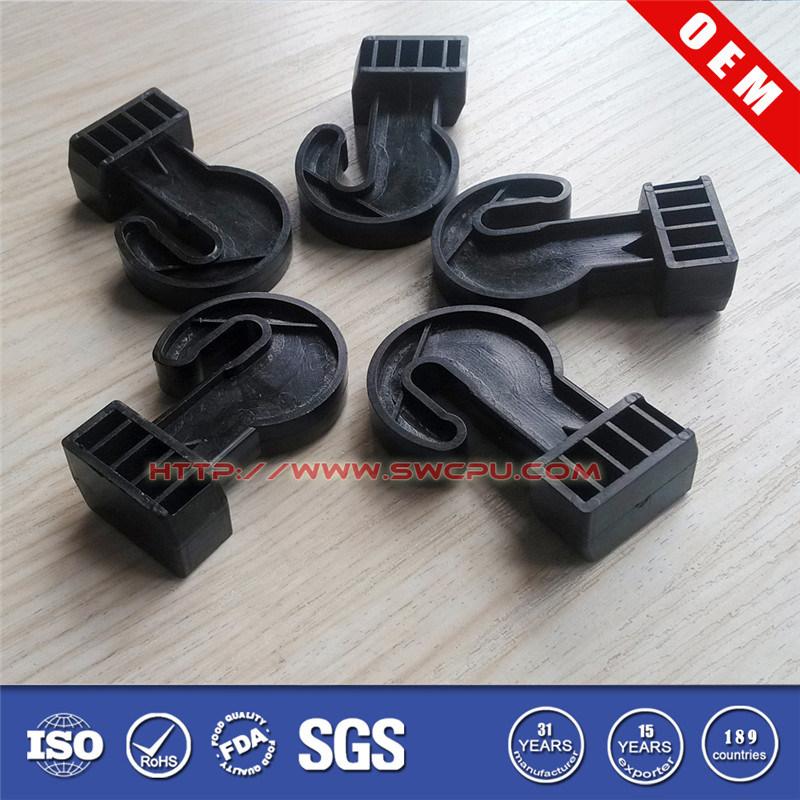 Black ABS/PP/PE/POM/PA Plastic Sharkles Hook (SWPU-P-H656)