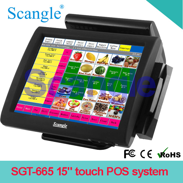 """15"""" Stylish Touch Point of Sale Equipment with Magnetic Strip Readers (SGT-665)"""