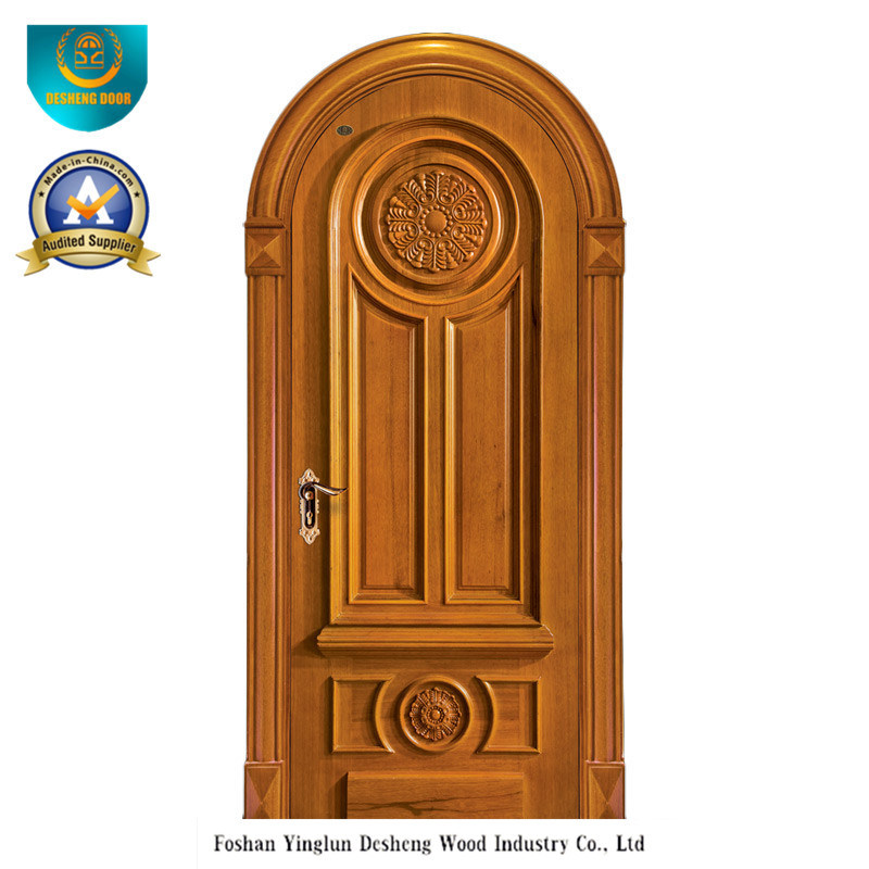 European Style Solid Wood Door with Carving (ds-035)