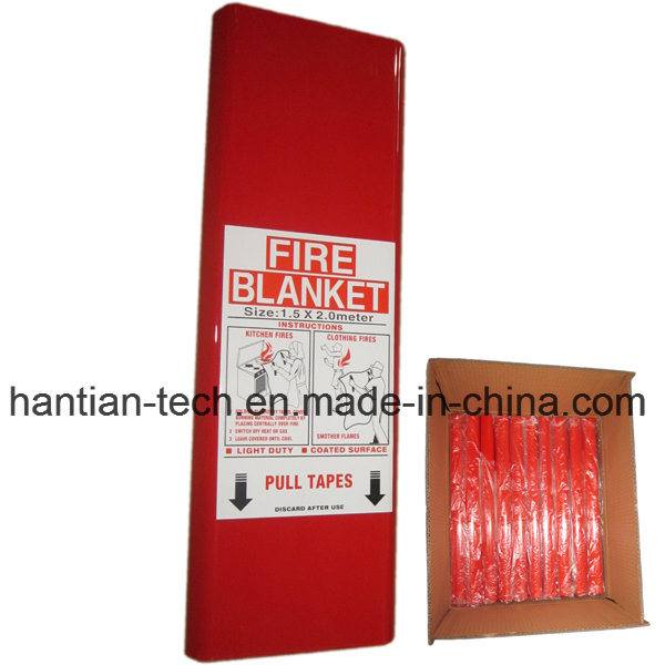 Fiberglass Fire Protection Equipment Fire Blanket 1.5*2.0m