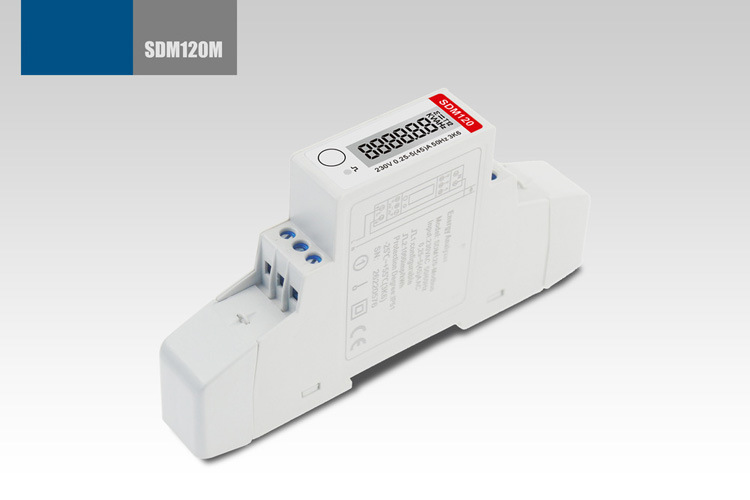 Single Phase Multifunction DIN Rail Modbus Energy Meter Sdm120-Modbus