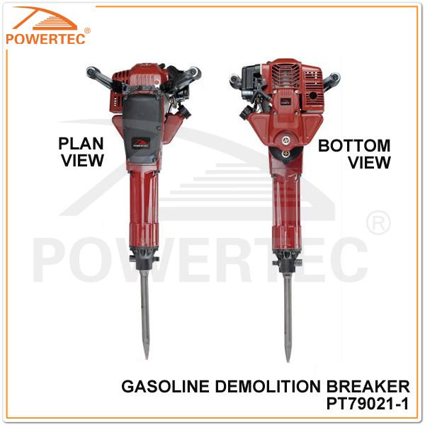 Powertec 52cc 1.7kw Gasoline Jack Hammer (PT79021)
