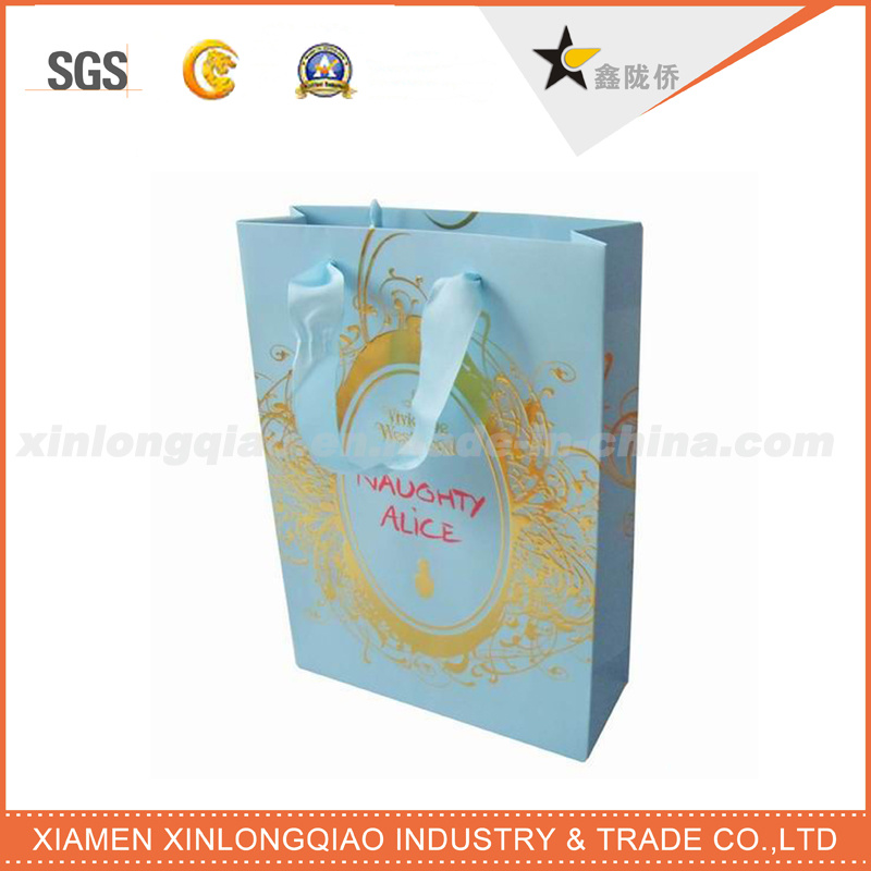 High Quality Durable Recyclable Cosmetic Gift Paper Bag for Packaging