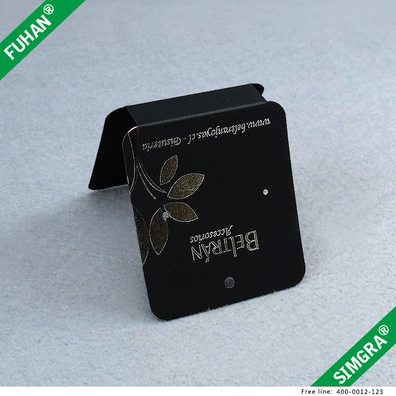 Black Silver Stamping Jewellery Paper Hangtags