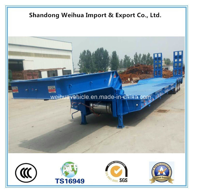 High Quality 3 Axles Low Bed Semi Trailer From China Supplier