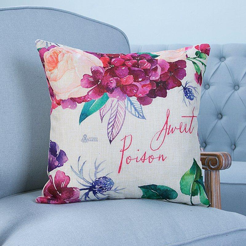 Digital Print Decorative Cushion/Pillow with Botanical&Floral Pattern (MX-08)