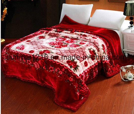 High Quality Mink Blanket Sr-B170214-9 Printed Mink Blanket Solid Mink Blanket