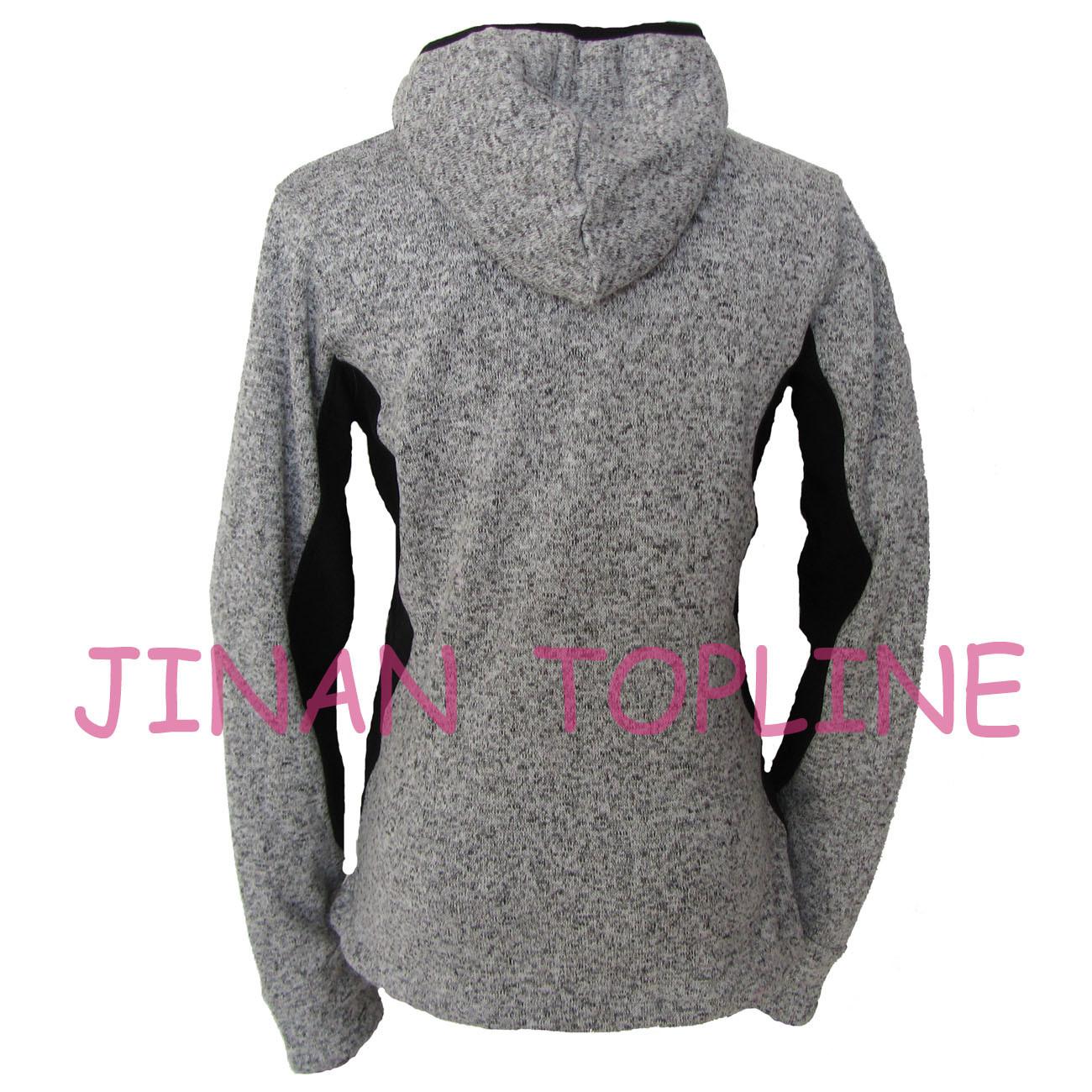 Women Fashion Hoody Bonded Micro Fleece Sports Wear