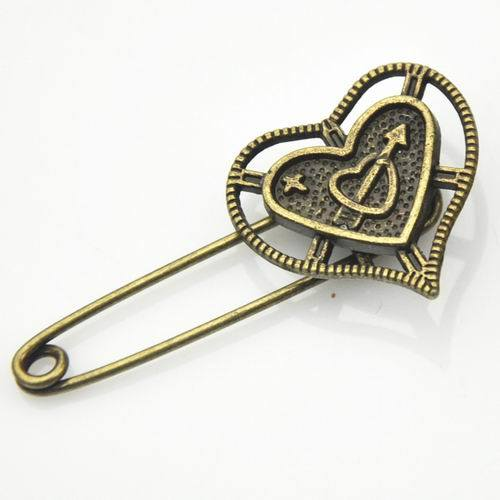 Fashion Metal Safety Pin Brooch