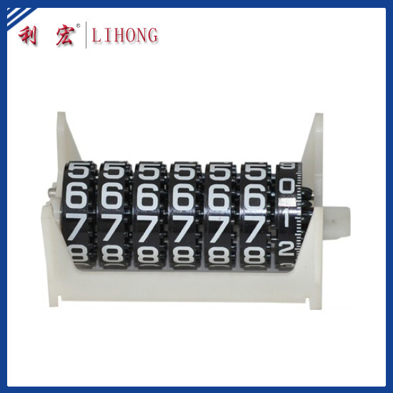 7 Black Wheels Gas Meter Counter, Natural Meter Counter (LH-G28B)