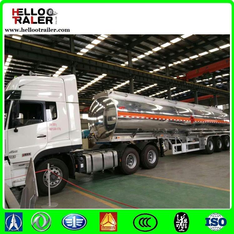 Tri Axle 40000L Aluminium Diesel Oil Fuel Tanker Trailer