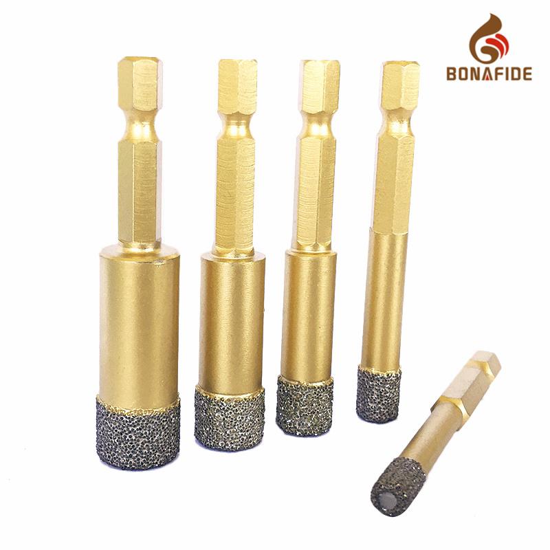 Vacuum Brazed Diamond Core Drill Bits for Ceramic Porcelain Tile Drilling