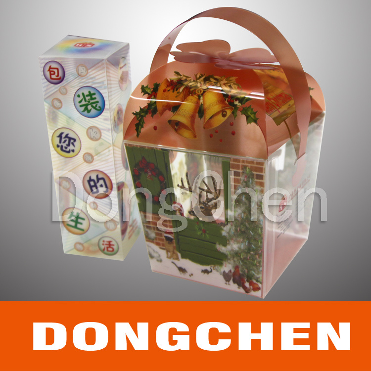 Offset Printing Transparent Cosmetic Clear Plastic Packaging Box