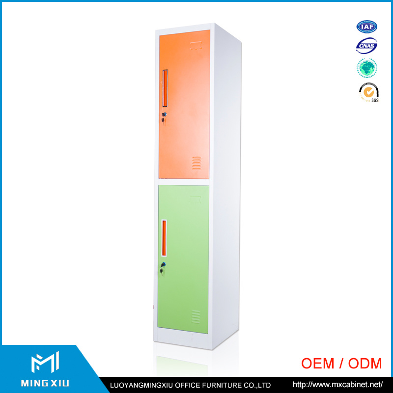 Mingxiu School Gym Room Furniture Kd Structure Design Metal Clothes Storage Lockers 2 Door Steel Locker