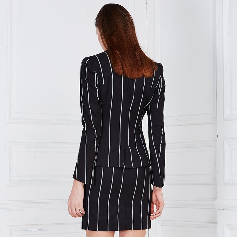 Ladies Wool Ployester Elegant Business Women Skirt Suit Blouse