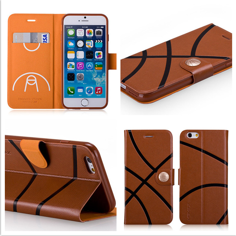 Customized Universal Leather Wallet Phone Case for iPhone 6/6s/6 Plus