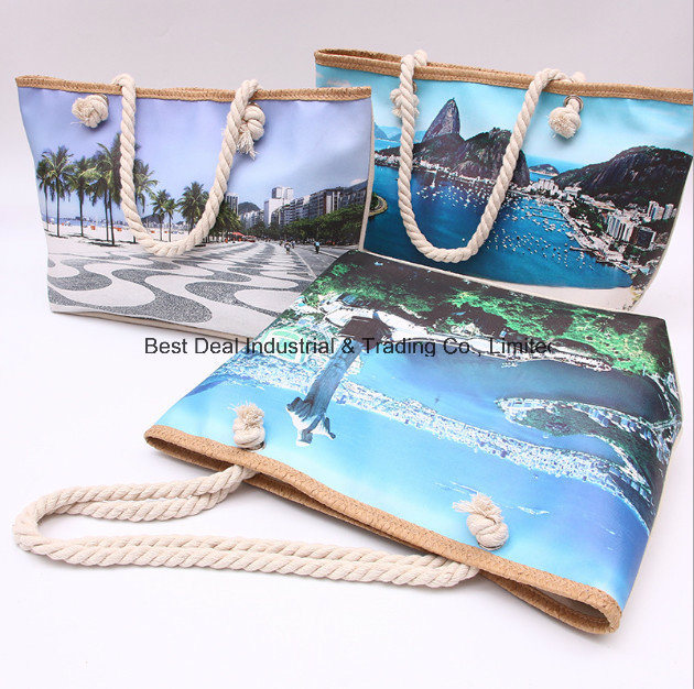 Single-Sided Printing Landscape Canvas Bag
