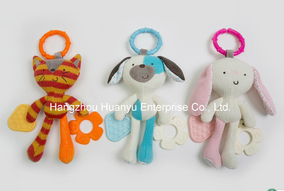 Factory Supply Knit Sweater Fabric Baby Teether Toy