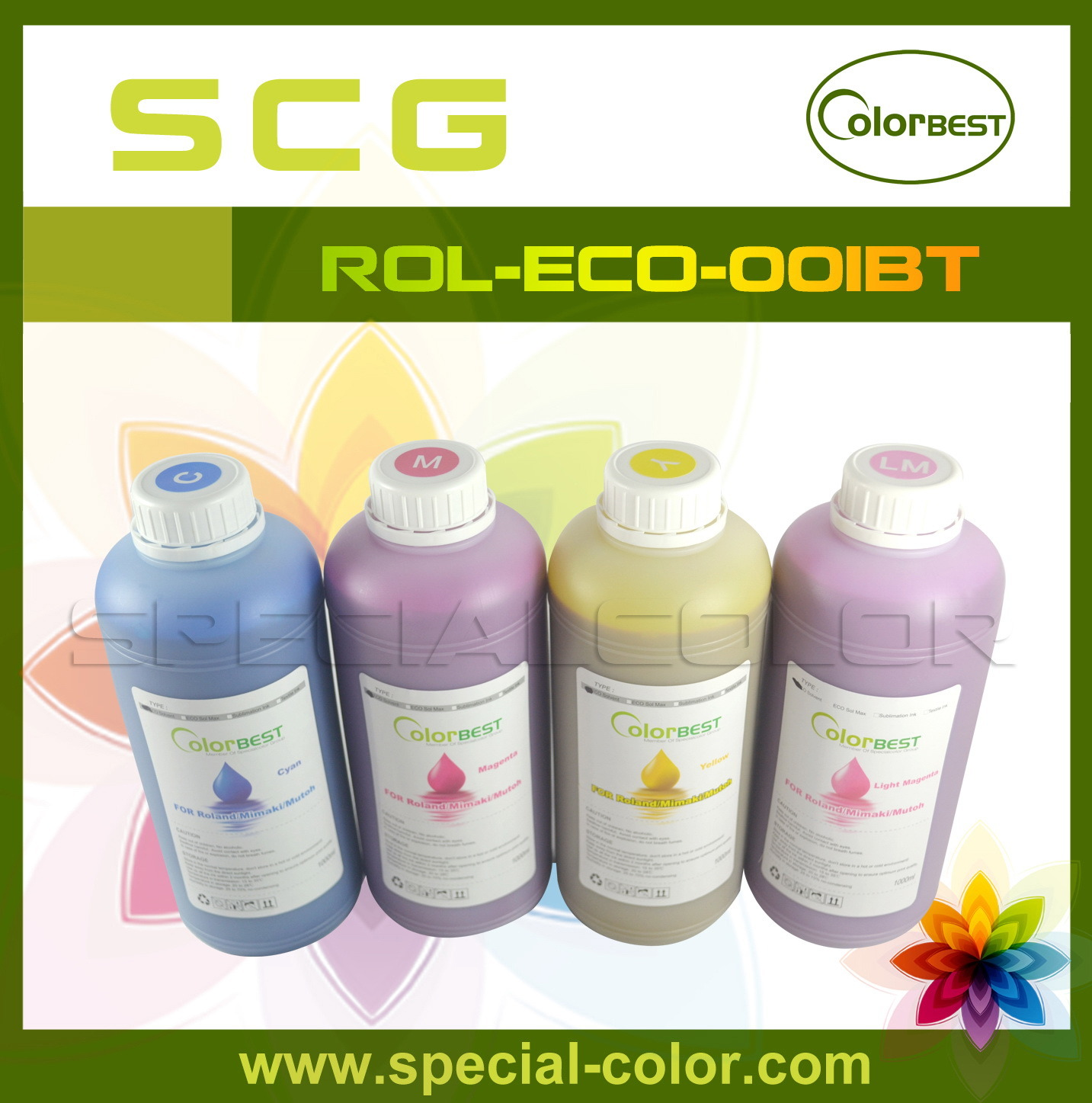 1000ml Compatible Printing Eco Max Solvent Ink for Roland Printer