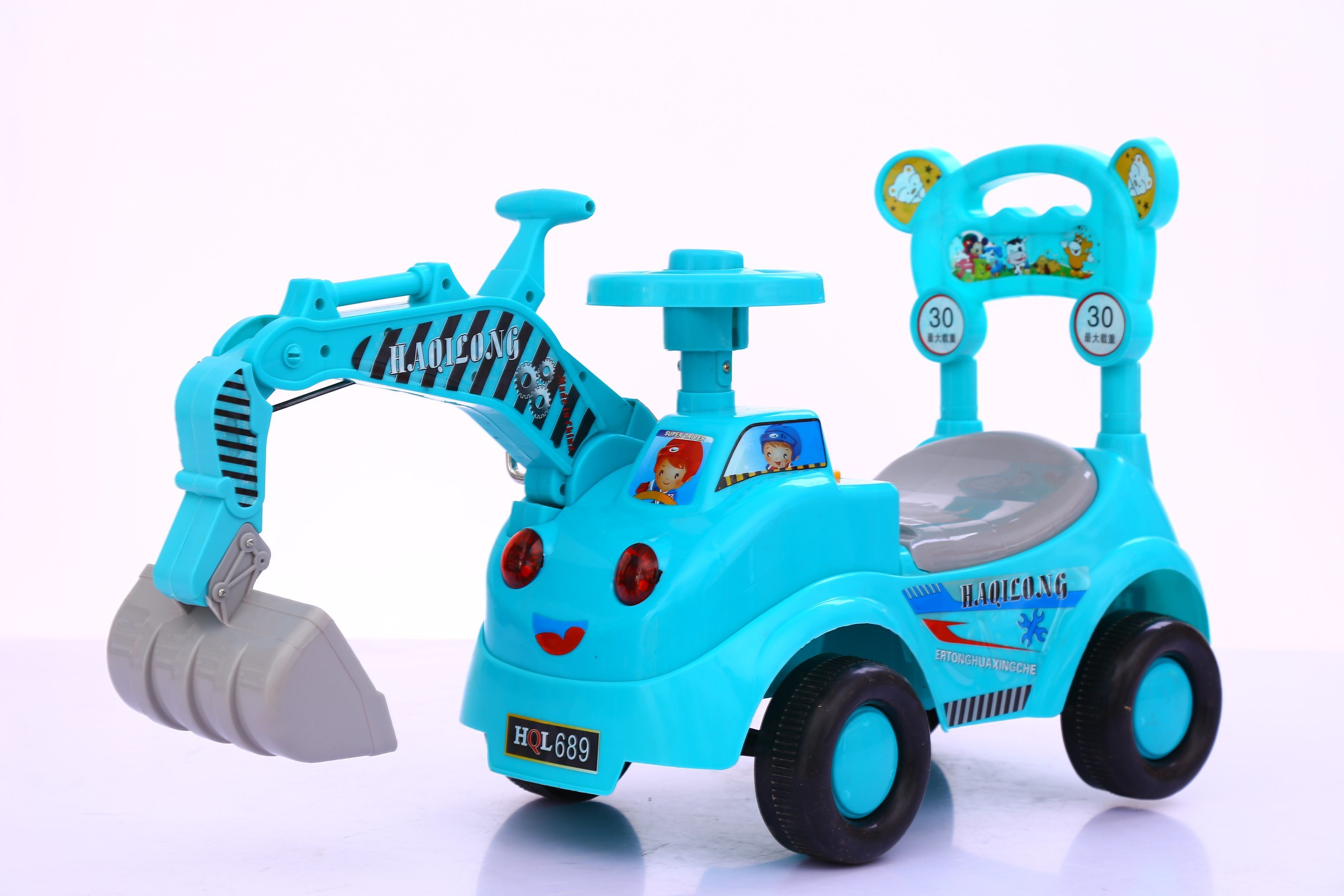 China Baby Kids Toys Navvy Electric Car Truck Bulldozer Ride on Toy