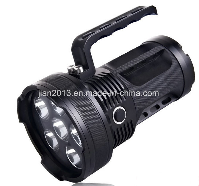 6X6w Rechargeable 395nm UV LED Hand Flashlight for Amber Hunting