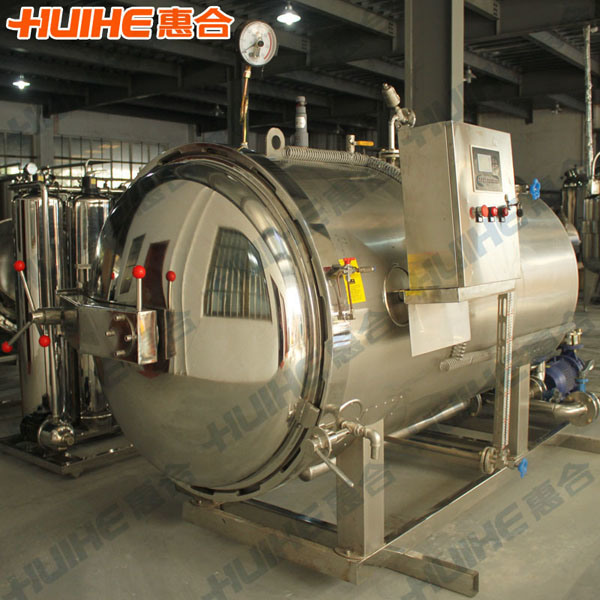 Side Water Spray Autoclave for Cans Food