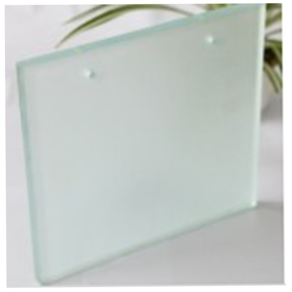 4mm 6mm 8mm Acid Etched Fosted Toughened Glass with Two Holes
