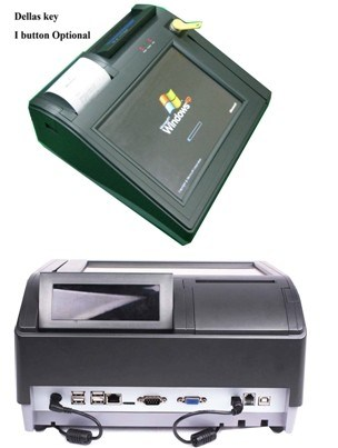 """Customer Display with 10"""" 5-Wire Touch POS Terminal"""