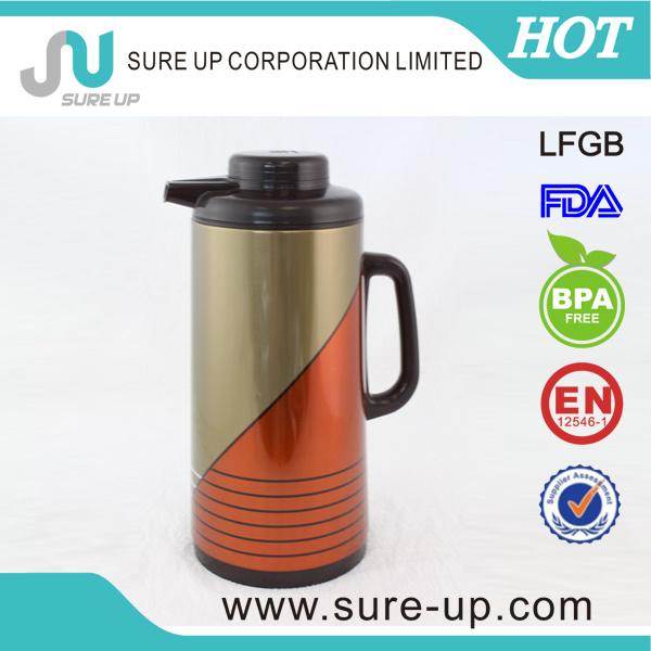 Metal Glass Inner Tea Pot Vacuum Flask Jug (JGBD)