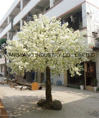 Hot Sale White Artificial Fake Handmade Blossom Tree for Outdoor Indoor Decoration