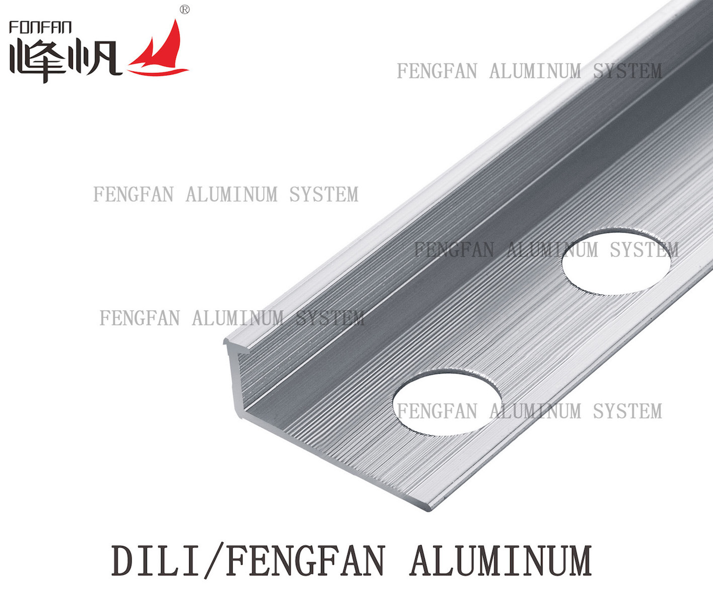 Straight Edge Aluminum Tile Trim for Ceramic Tile