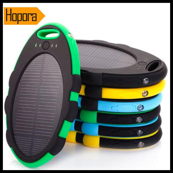 Waterproof 5000mAh Universal Portable Mobile Phone Solar Power Bank Charger