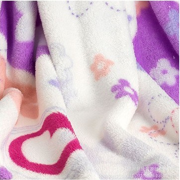 Printed 100% Polyester Coral Fleece Blanket (xdb-016)