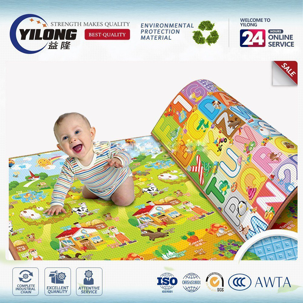 2017 Fashion Cartoon Folding Baby Crawling Mats